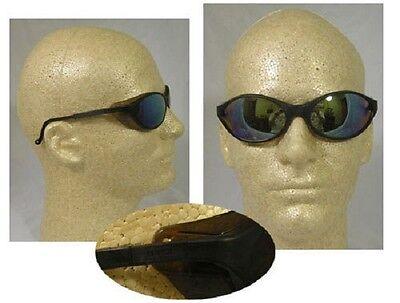 Uvex Bandit Safety Glasses - Black Frame With Mirror Lens