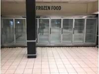 8 multi-shelf remote display freezer