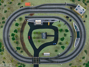 NEW  HORNBY OO MODEL RAILWAY LAYOUT PLANNER TRACKMAT - 64% DISCOUNT