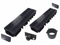 Drainage channel (All-in-one kits) | Black plastic class A15 (1.500 kg)