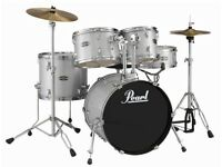 PEARL TARGET TGXC625H 5 PIECE DRUM KIT WITH STOOL AND SYMBOLS