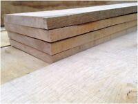 4 Lengths of Sawn Oak Board Timber Wood Plank 600mm Long