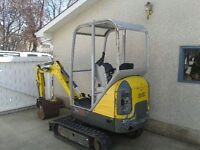 Mini Excavator/Backhoe AND Operator for hire