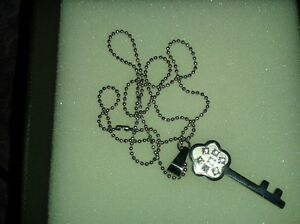 cubic zirconia and sterling silver necklace