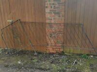 Black metal garden balustrade
