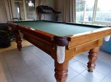 POOL/SNOOKER/BILLIARDS 8ft. SLATE TABLE WITH ACCESSORIES Mount Martha Mornington Peninsula Preview