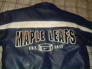 Maple Leafs Nike Youth Faux Leather Coat