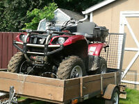 ATV with trailer