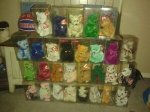 BEANIE BABIES ALL in soft cases with tag protectors. Kitchener / Waterloo Kitchener Area image 1