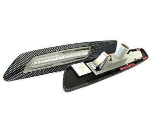 Set-Flecha-Lado-para-Led-lado-Marcador-3D-Carbono-Lente-Transparente-BMW-E81-E82