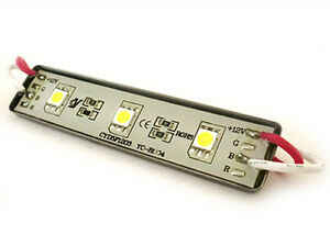Forma-Ladrillo-LED-3-SMD-5050-Blanco-Hielo-12V-Impermeable-IP67