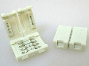 4-PIEZAS-Conector-12mm-Para-Fusion-Dos-Carretes-Led-Smd-RGB-5050-Sin-Soldar