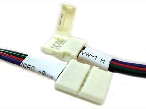 4-PIEZAS-Conector-12mm-Para-Cerrar-Tira-De-Led-Smd-RGB-5050-Sin-Soldar