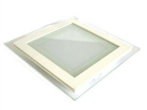 Foco-Led-Empotrable-Cuadrado-18W-Blanco-Frio-Con-Vidrio-Estilo-Moderno-Illumi