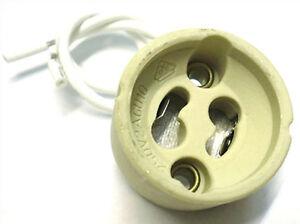 4-Portalamparas-GU10-220V-Adaptador-De-Ceramica-Para-Lampara-Led