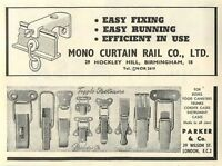 1953 Mono Curtain Rail Co Hockley Hill Parker Wilson St Ad - parker - ebay.co.uk