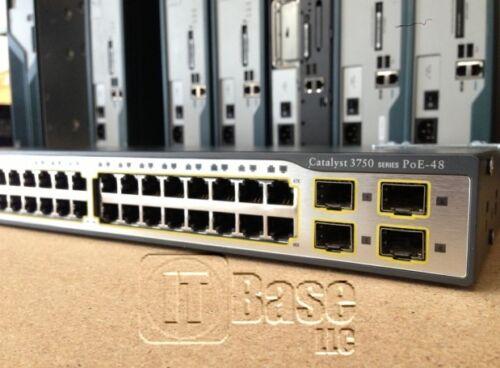 Cisco Ws-c3750-48ps-e Poe Switch C3750-advipservicesk9-mz.122-44.se4suz Ios