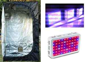Reflective indoor grow tent & 600W LED Light Grow Kit - SALE
