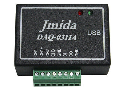USB Data Acquisition Module DAQ 16-Bit ADC,Digital I/Os, w/ Software and Drivers