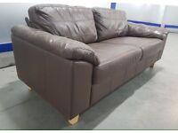 Designer Large 2 Seater Real Italian Leather Sofa