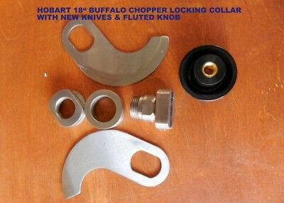 Hobart 18 Buffalo Chopper Locking Knife Set With New Knives New Fluted Knob