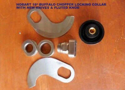 Hobart 18 Buffalo Chopper Locking Knife Set With New Knives New Fluted Knob