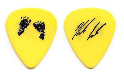 Matchbox Twenty 20 Kyle Cook Signature Footprints Yellow Guitar Pick - 2000 Tour