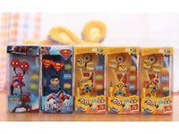 Minions spider man superman earphones kids adults iPhone