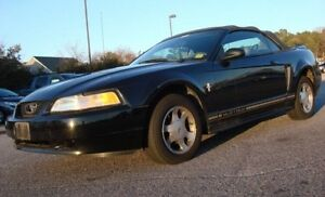 2000 BLACK FORD MUSTANG CONVERTIBLE TRY YOUR TRADE