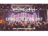 2x AMP lost and found festival tickets