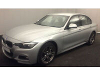 Silver BMW 335d m sport Auto 308bhp 2015 FROM £109 PER WEEK!