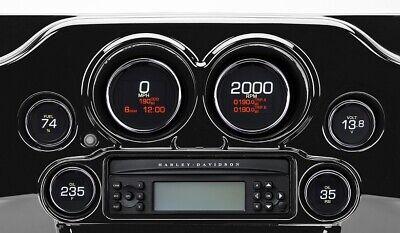 DAKOTA DIGITAL MLX-8604 GAUGE 6 SET CHROME BEZEL 04-13 TOURING FLHT FLHX