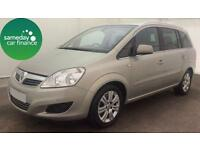 £151.78 PER MONTH - 2010 VAUXHAL ZAFIRA 1.7 CDTI 110 SRI E/F ELITE DIESEL MANUAL