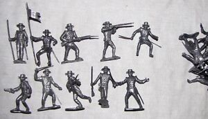 Marx reissue Presidio (round) hat Mexican toy soldiers 16 in 10 poses silver C