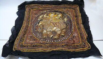 ☛Elefanten Wandbehang-Wandteppich  Paijetten-Steine Asiatika Gottheit  ☚