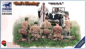 a Bronco Models - CB35206 - GOD's BLESSING - WWII US Infantry and priest (1/35) - Lucernate, Italia - L'oggetto può essere restituito - Lucernate, Italia