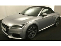 Silver AUDI TTS ROADSTER CONVERTIBLE 2.0 TFS1 Petrol QUATTRO FROM £114 PER WEEK!