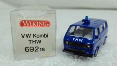 WIKING 69218 VW Kombi THW realistisch Schaal HO 1/87 nieuwe staat