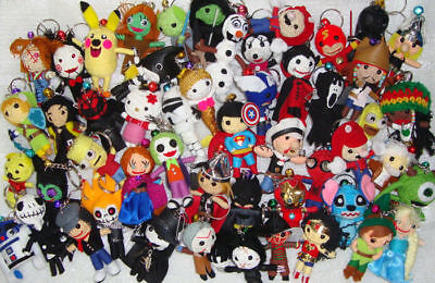 Wholesale Lot of 3000 Voodoo String Dolls Keychain Cartoon Figure Charm Ornament](Hello Kitty Voodoo Doll)