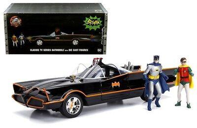 1/18 Jada 1966 Batmobile DC TV Series with Light & Batman & Robin Figures 98625