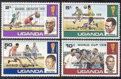 Uganda 1979 Football World Cup/WC/Soccer/Sports/Games/Overprint 4v set (n40264)