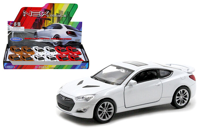 Hyundai GENESIS Coupe 1:34-1:39 Die Cast Car White//Red//Gold Collection New Gift