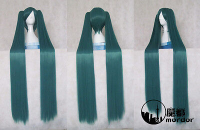 Vocaloid Miku Cosplay Wigs Christmas/Halloween Wigs Blackish Green Long Hair](Blackish Halloween)