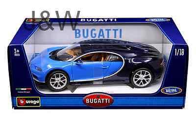 Bburago Bugatti Chiron Blue 1 18 11040