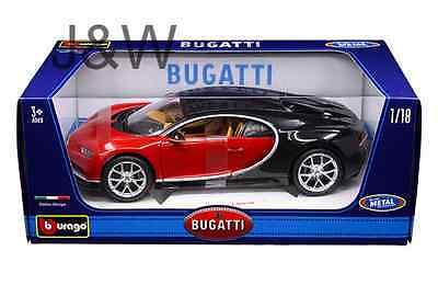 Bburago Bugatti Chiron Red 11040 1 18