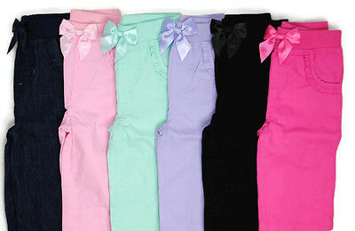 Girls Elastic Waist Pants - NEW GARANIMALS Girls Elastic Waist COTTON Pants 0-3 3-6 6-9 12 18 24 Months