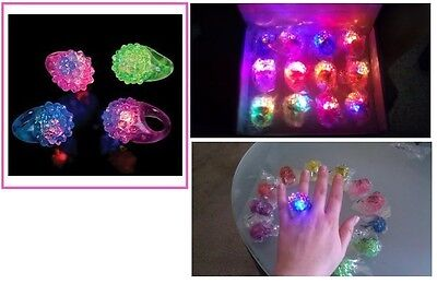 Flashing Rings For Parties (Flashing Led Bumpy Ring, Pack Of 12, For Parties, Birthdays, Dances,)