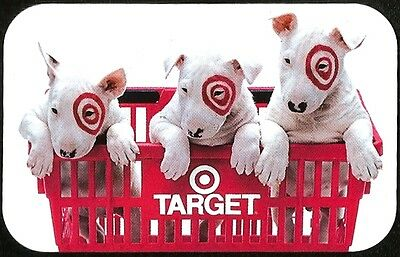 TARGET COLLECTIBLE GIFT CARD 2004 DOGS IN BASKET #498 CORPORATE/ONLINE RARE!