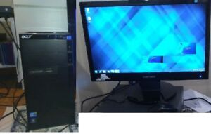 Ordinateur ACER i5 + Moniteur Samsung 20po + WiFi/ MS OFFICE Wor