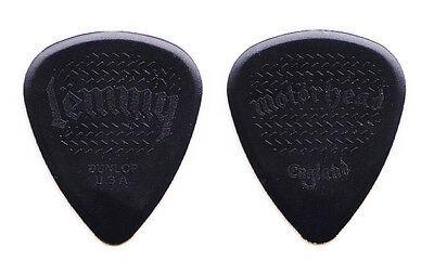 Motorhead Lemmy Kilmister Signature Black Molded Guitar Pick - 2012 Tour